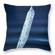 Icicle In Reverse Throw Pillow by Christine Till