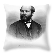 James A. Garfield (1831-1881) Throw Pillow by Granger