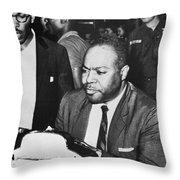 James Farmer (1920-1999) Throw Pillow by Granger