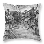 Kansas: Border Ruffians Throw Pillow by Granger