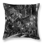 Kansas: Lawrence, 1856 Throw Pillow by Granger