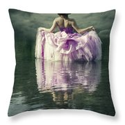 Lady In The Lake Throw Pillow by Joana Kruse