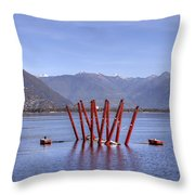 Lake Maggiore Locarno Throw Pillow by Joana Kruse