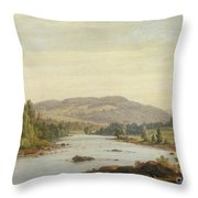 Landscape With River Throw Pillow by Sanford Robinson Gifford