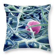 Lavender Leaf Throw Pillow by Ted Kinsman