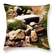Let's Take A Walk Throw Pillow by Nina Fosdick