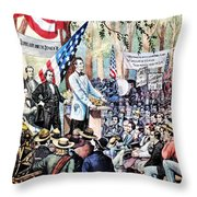 Lincoln-douglas Debate Throw Pillow by Granger