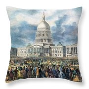Lincoln Inauguration, 1865 Throw Pillow by Granger