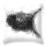 LINE 1 Throw Pillow by Rozita Fogelman