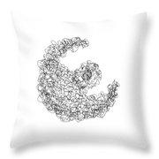 LINE 3 Throw Pillow by Rozita Fogelman