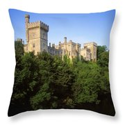 Lismore Castle, Co Waterford, Ireland Throw Pillow by The Irish Image Collection