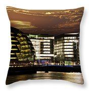 London City Hall At Night Throw Pillow by Elena Elisseeva