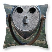 Look Into My Eyes Throw Pillow by Ernie Echols