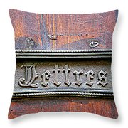 Love Letters Throw Pillow by Nomad Art And  Design