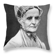Lucretia Coffin Mott Throw Pillow by Granger