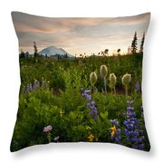 Lupine Sunset Throw Pillow by Mike  Dawson