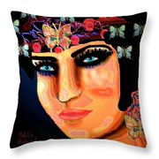 Madame Butterfly Throw Pillow by Natalie Holland