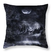 Magical Night Throw Pillow by Svetlana Sewell