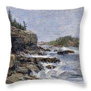 Maine: Mount Desert Island Throw Pillow by Granger