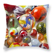Many Beautiful Marbles Throw Pillow by Garry Gay
