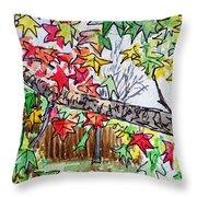 Maple Tree Sketchbook Project Down My Street Throw Pillow by Irina Sztukowski