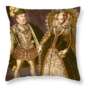 Mary, Queen Of Scots Throw Pillow by Omikron