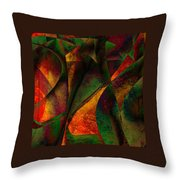Merging Throw Pillow by Amanda Moore