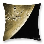 Moon, Apollo 16 Mission Throw Pillow by Science Source