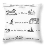 MOTHER GOOSE, 1849 Throw Pillow by Granger