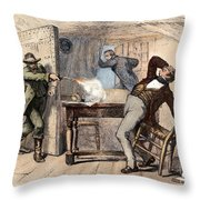 Murder Of Smith, 1844 Throw Pillow by Granger