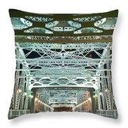 Nashville By Night Bridge 2 Throw Pillow by Douglas Barnett