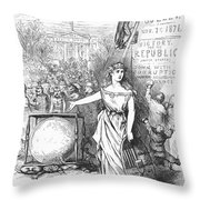 Nast: Tweed Cartoon, 1871 Throw Pillow by Granger