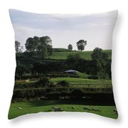 Navan Fort, Co. Armagh, Ireland Throw Pillow by The Irish Image Collection