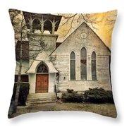 Old Church Throw Pillow by Jill Battaglia