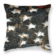 Old Glory Throw Pillow by Bill Owen