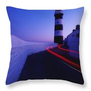 Old Head Of Kinsale, Kinsale, County Throw Pillow by Richard Cummins
