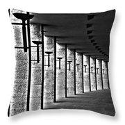 Olympic Stadium Berlin Throw Pillow by Juergen Weiss