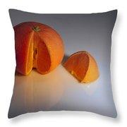 Orange Throw Pillow by Svetlana Sewell