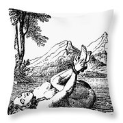 ORDEAL BY WATER Throw Pillow by Granger