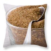 Organic Raw Cane Sugar Throw Pillow by Frank Tschakert