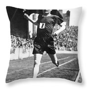 Paavo Nurmi (1897-1973) Throw Pillow by Granger