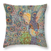 Peabit  Throw Pillow by Erika Pochybova