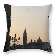 Piazetta. Venice Throw Pillow by Bernard Jaubert