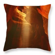 Pillars Of Light - Antelope Canyon Az Throw Pillow by Christine Till