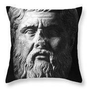 PLATO (c427 B.C.-c347 B.C.) Throw Pillow by Granger