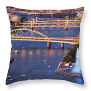 Point State Park  Throw Pillow by Emmanuel Panagiotakis