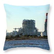 Power Station Throw Pillow by Henrik Lehnerer