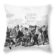 Presidential Campaign, 1824 Throw Pillow by Granger