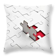Puzzle Throw Pillow by Joana Kruse