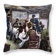 Railroad: Dining Car, 1880 Throw Pillow by Granger